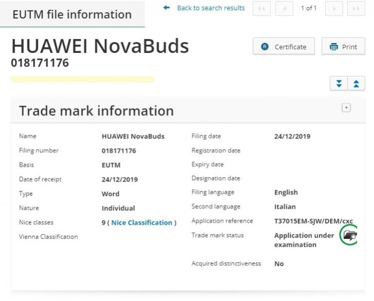 Huawei NovaBuds headphones and potentially other ''Nova'' branded devices on the way