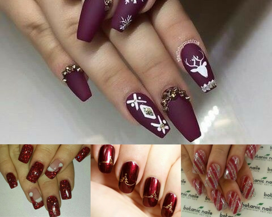 holiday party nail art design ideas how to festive manicure blogger pictures