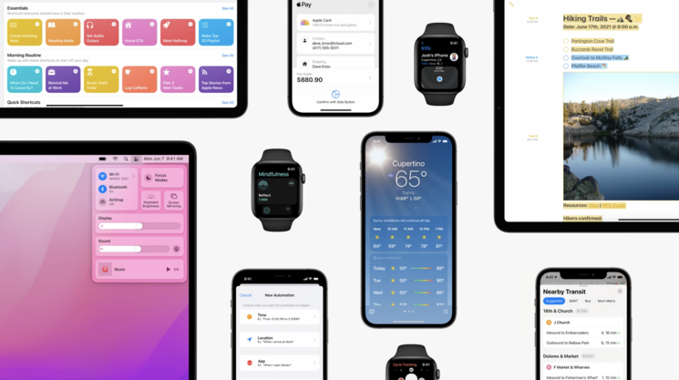 Apple using SwiftUI in their own apps. Image Credits: Platforms State of the Union WWDC'21