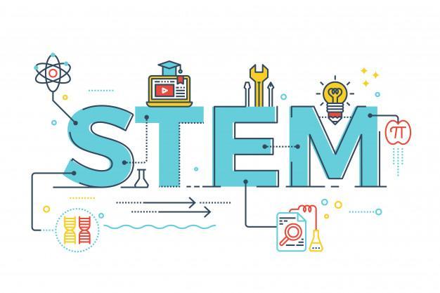 Illustration of stem - science, technology, engineering, mathematics Premium Vector