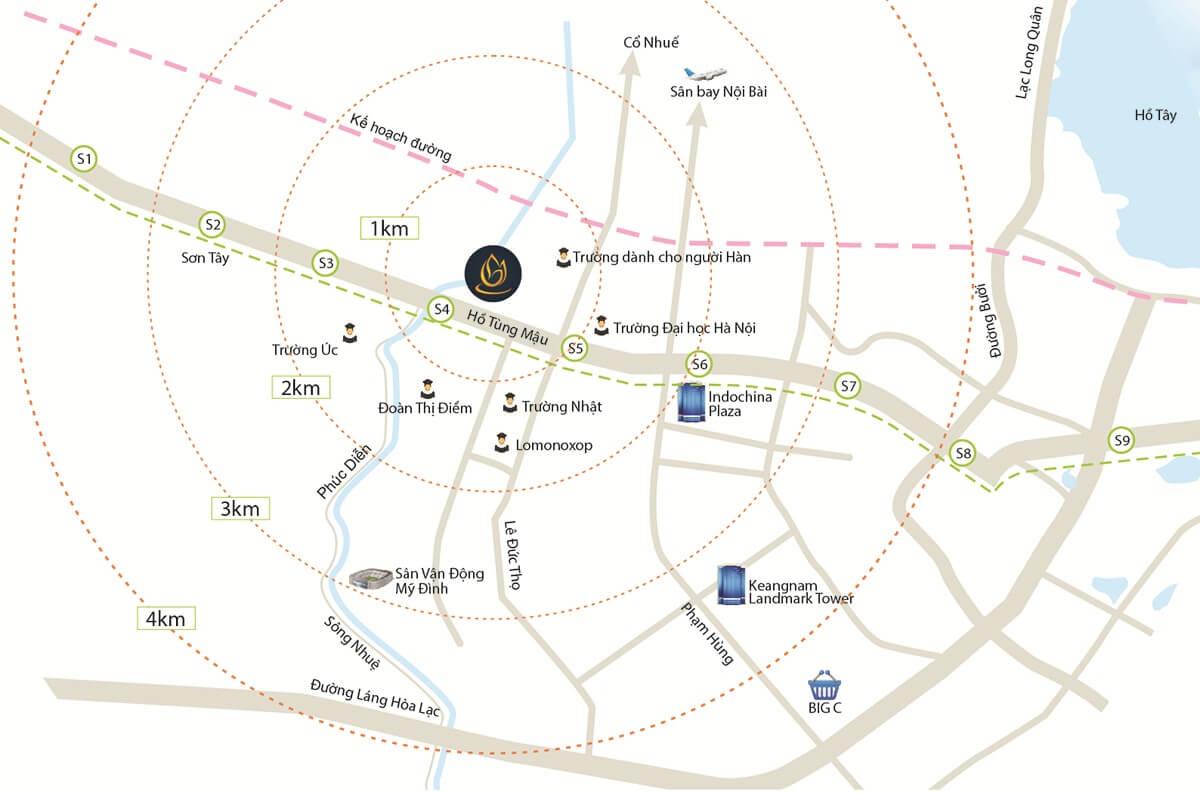 Vị trí dự án Goldmark City