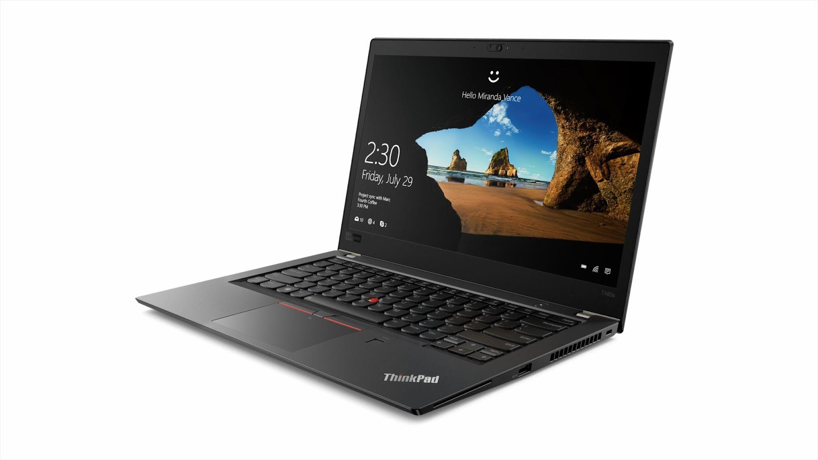 Фото2  Ноутбук ThinkPad T480s (20L7004MRT)
