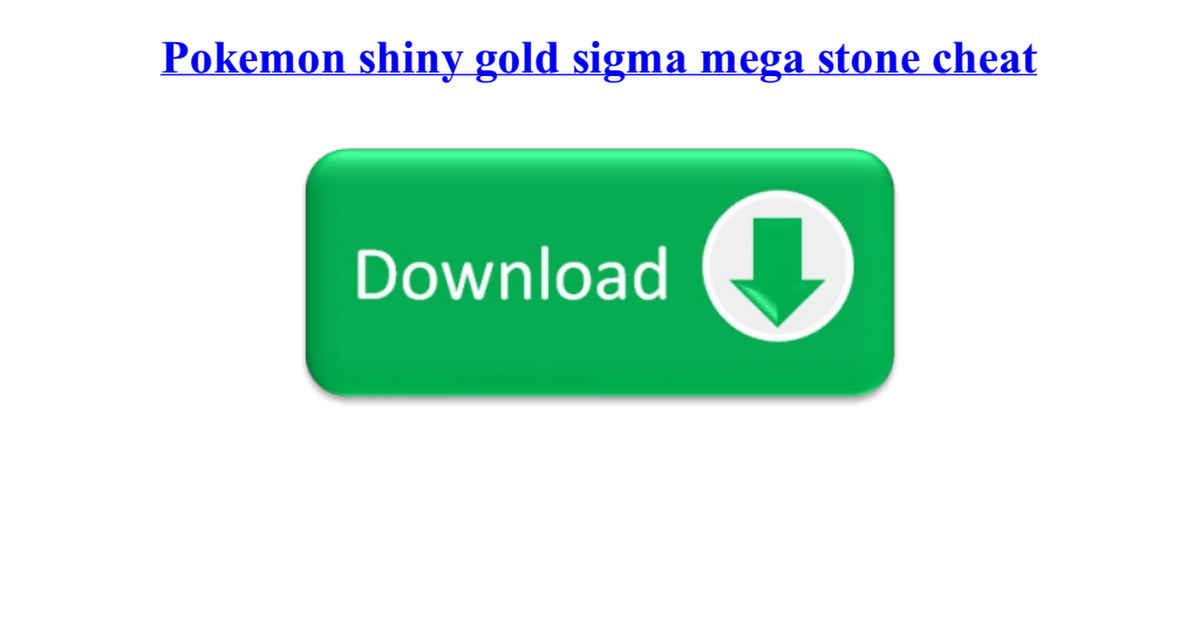 shiny gold sigma pdf