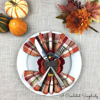 turkey napkin ring crochet pattern for thanksgiving