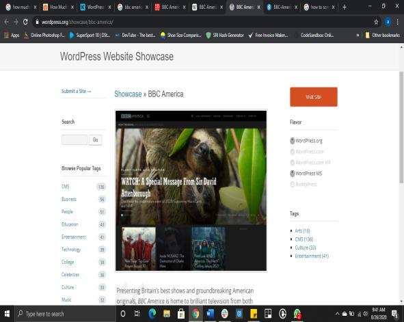 Top 20 famous website built with WordPress