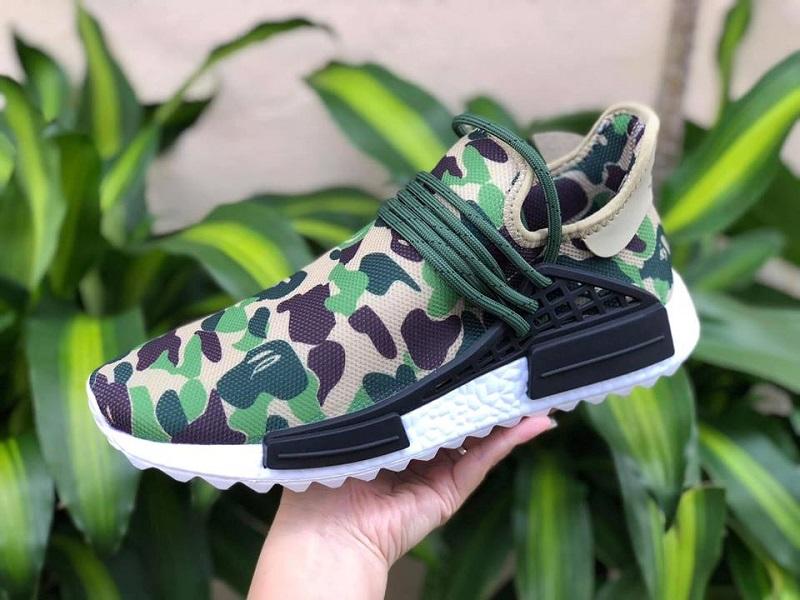 giay adidas nmd hu trail x bape camo
