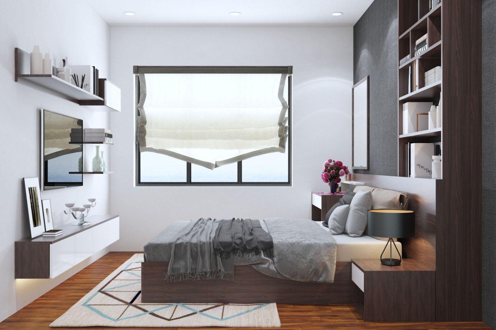Phòng ngủ chung cư nhỏ đẹp và hiện đại