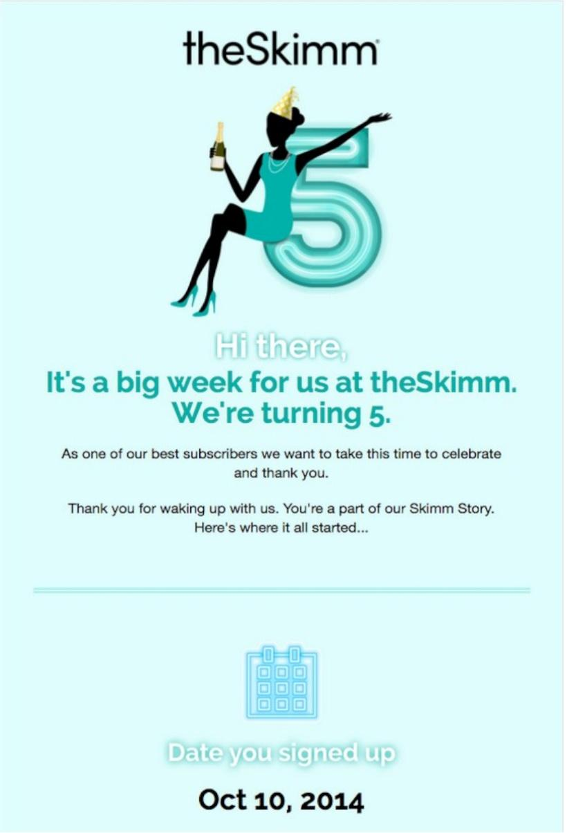 the skimm email example
