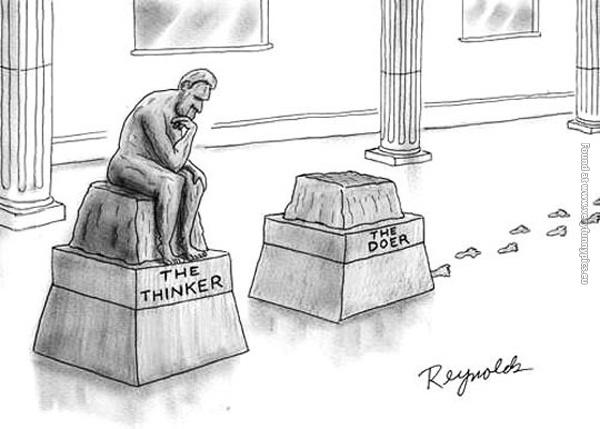 Image result for the thinker cartoons