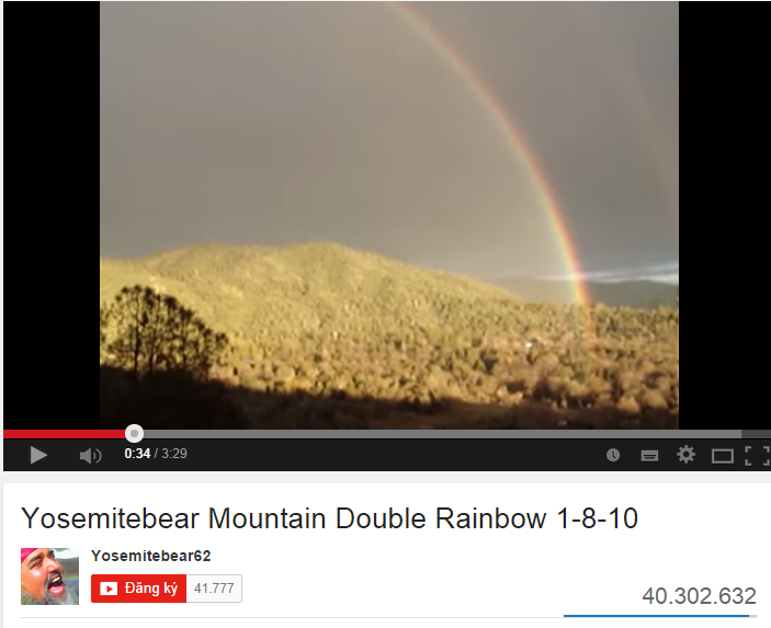 Double Rainbow ban đầu cũng chỉ là một video nghiệp dư không mấy nổi bật. Nhưng sau khi được chia sẻ bởi diễn viên hài nổi tiếng Jimmy Kemmel, video này đã nhanh chóng lan truyền và thu hút hơn 37 triệu lượt xem chỉ trong thời gian ngắn