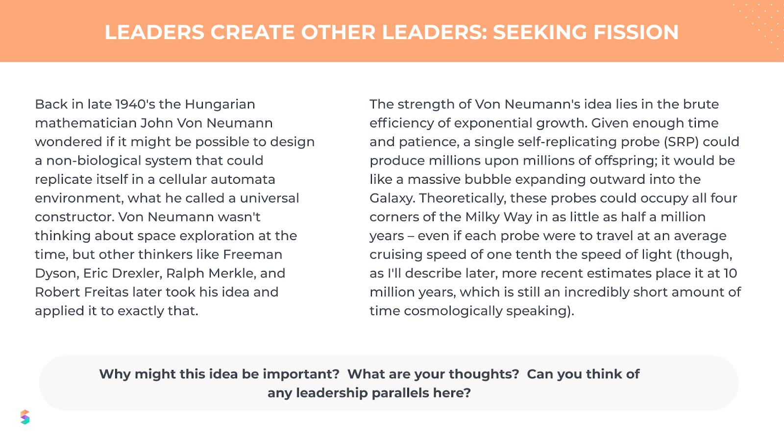 leaders create other leaders