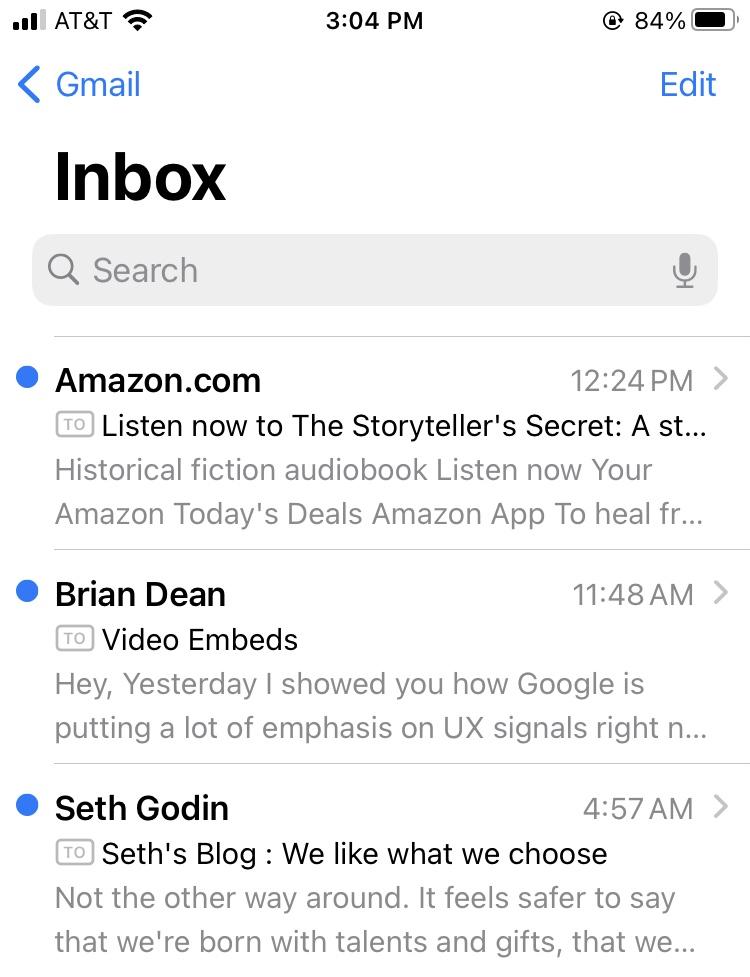 Email preheader Amazon