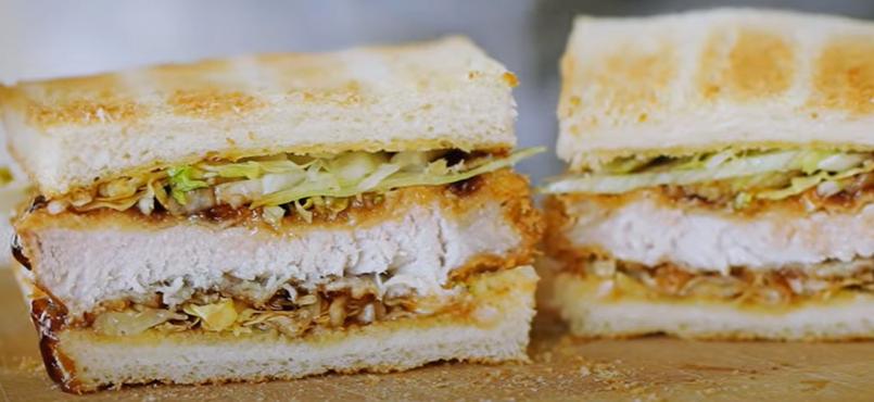 4. แซนด์วิชไส้หมูทงคัตสึ