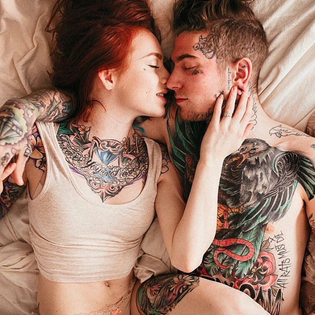 Image result for guys and girls with tattoos