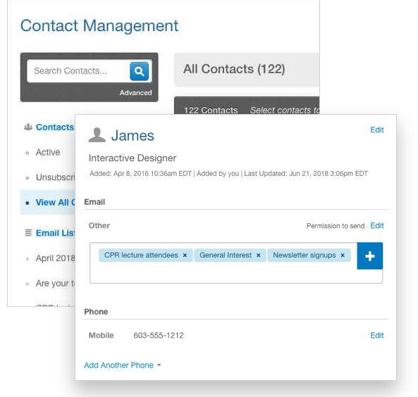 constant contact contact management
