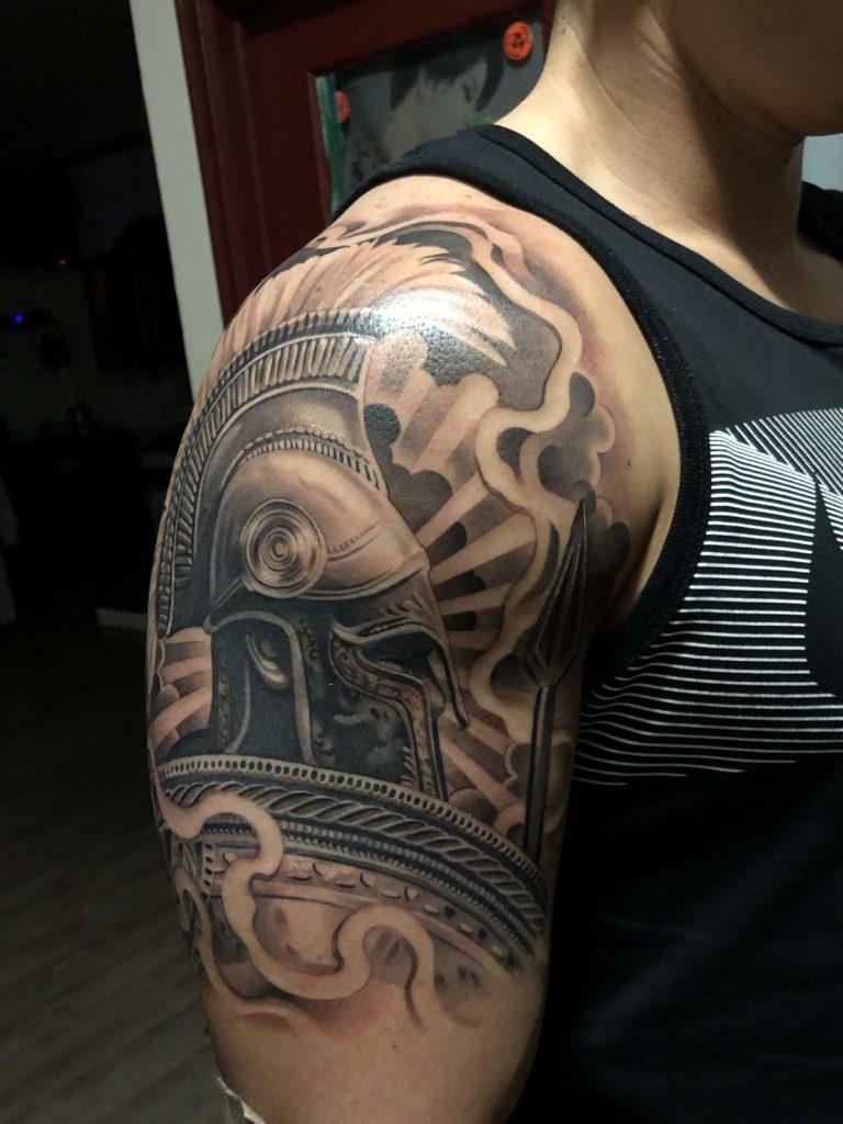 spartan tattoo ideas on arm