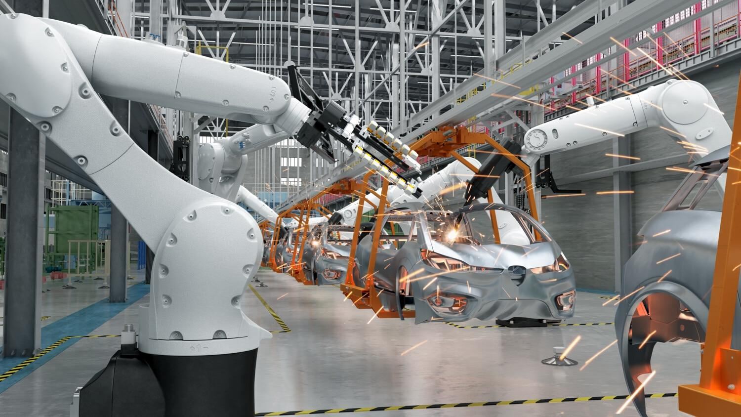 Industry robots automation automotive manufacturing