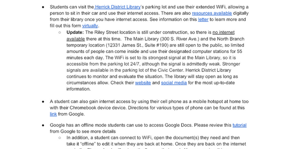 WOPS Internet Access Options - Google Docs
