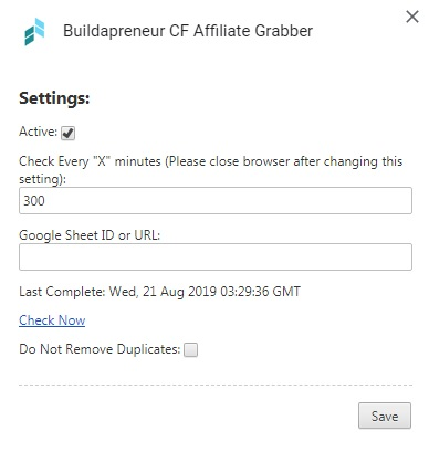 Google Chrome Extension ClickFunnels Affiliate Grabber