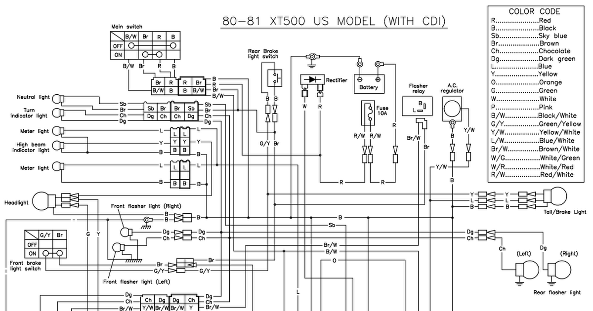 xt500 g  u0026 h cdi wiring diagram rexs speed shop pdf