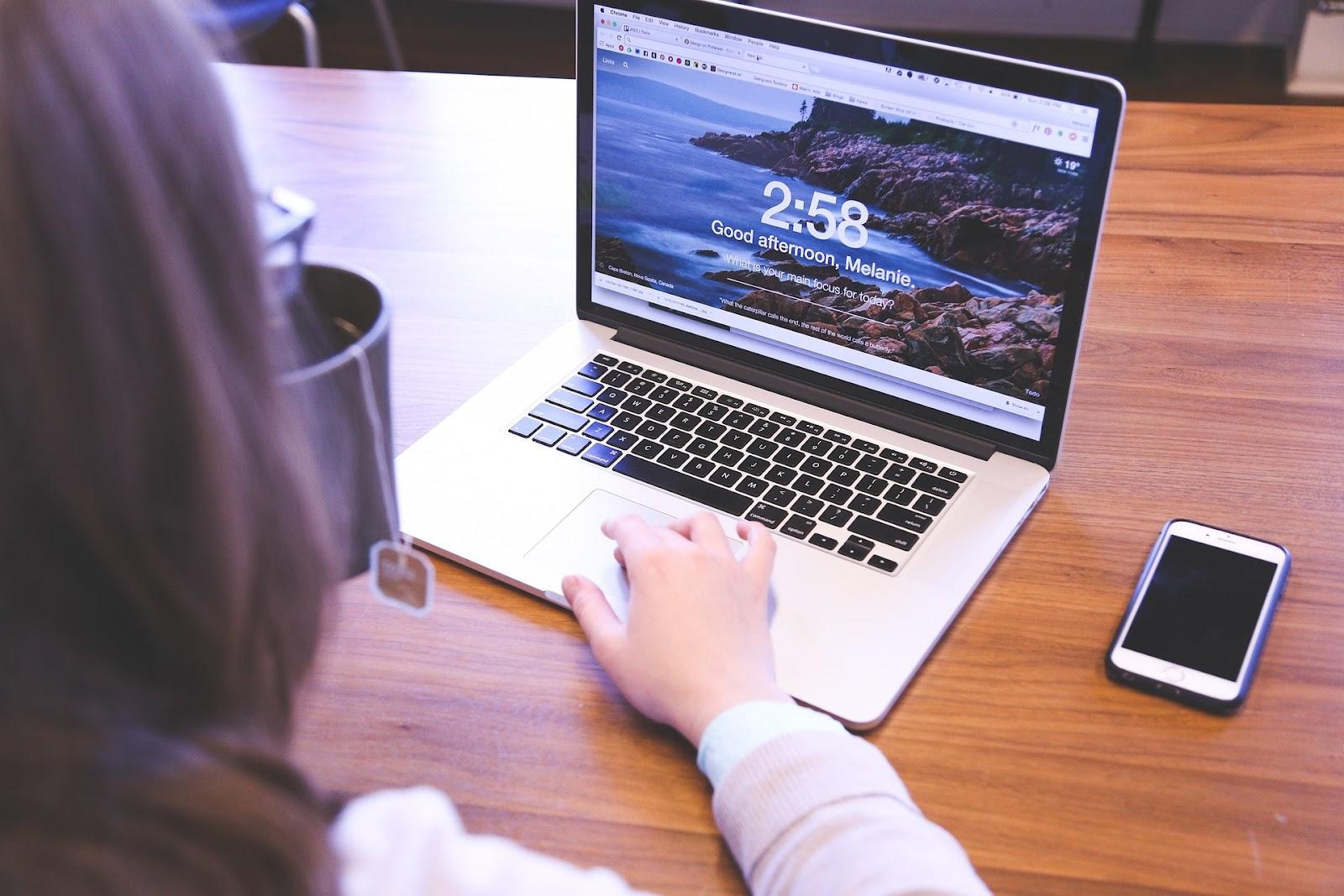 Ecommerce seller on laptop