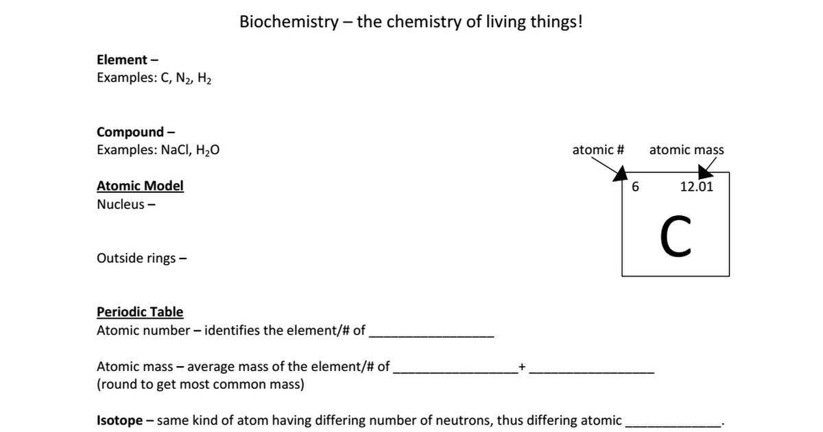 Basic Chem Student Notesc Google Drive