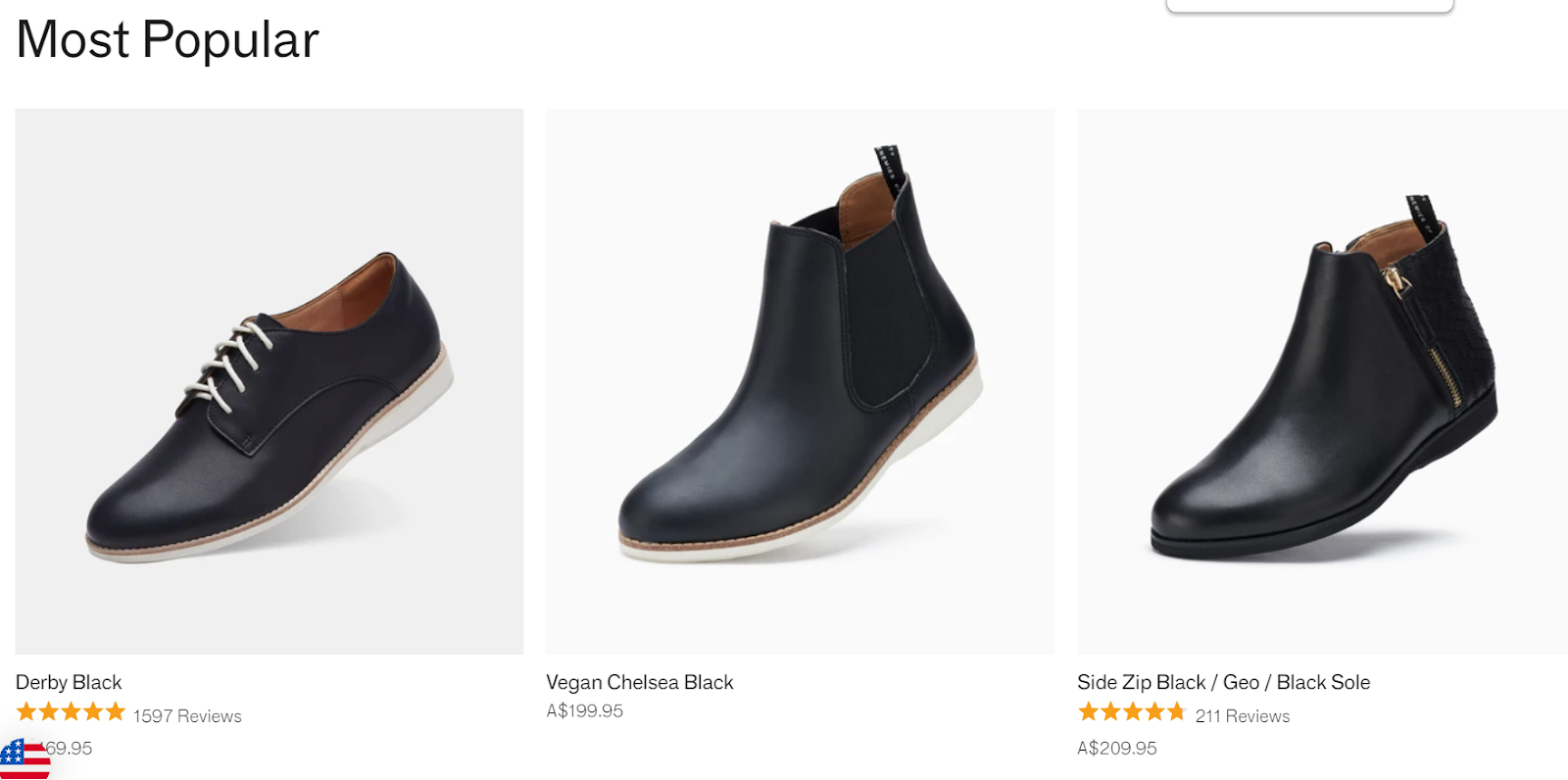 Three black men's boots in a row from Rollie Nation