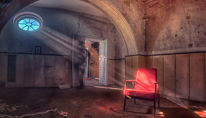 một lâu đài đổ nát ở Muszyna, miền namBa Lan