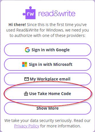 Take Home code Signin