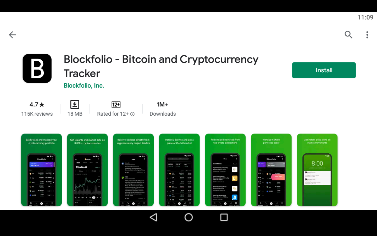Blockfolio app on PC