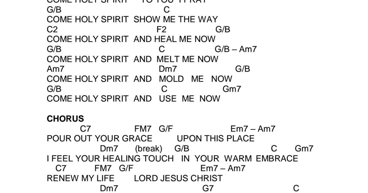 Come Holy Spirit by Tony Yu lyrics & chords.pdf - Google Drive