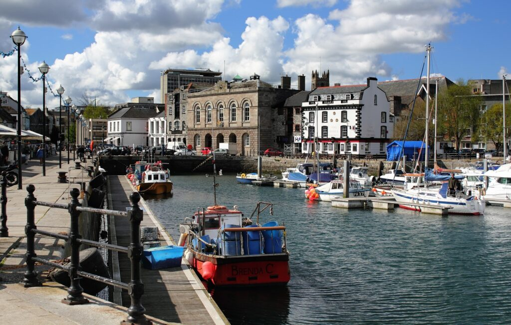 The Barbican in Plymouth is a great place to party and relax