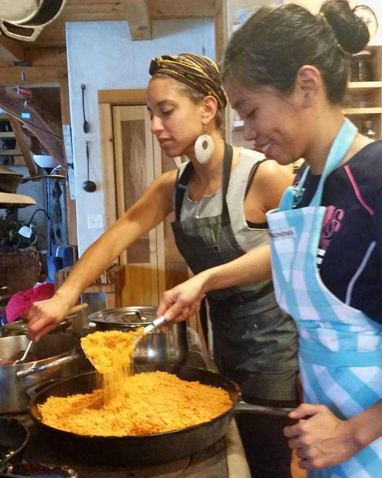 Ria and Leah cooking Indonesian Fried Rice.jpg