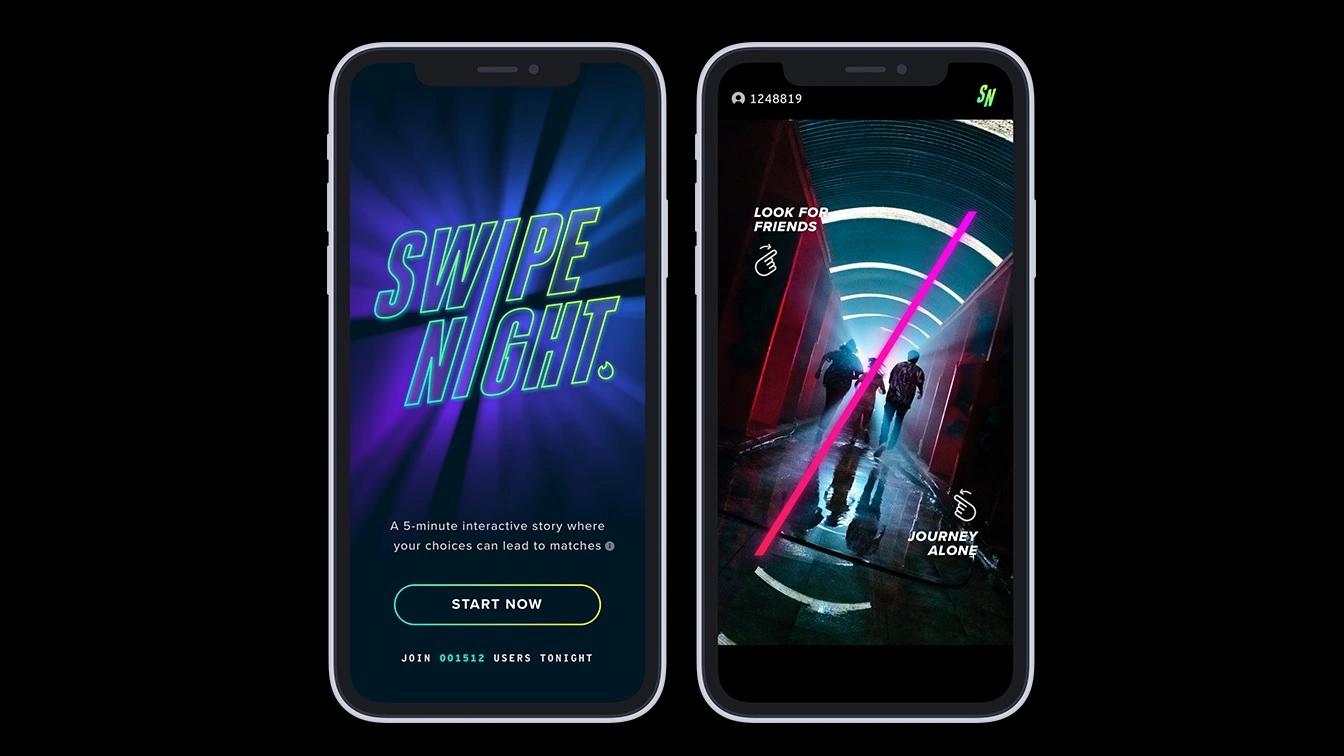 Tinder's in-app interactive series 'Swipe Night' to return this November