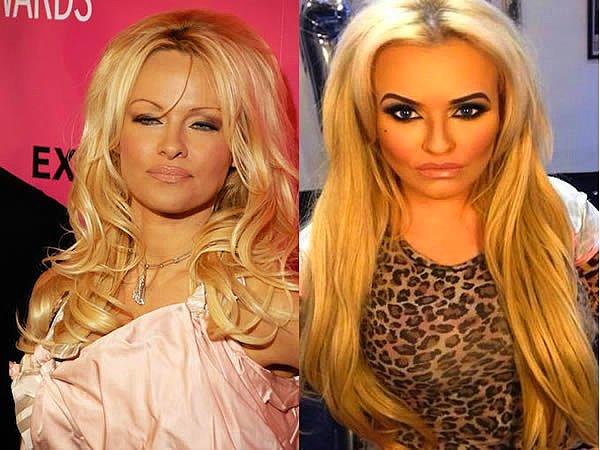 Pamela Anderson hayranı bir kadın..