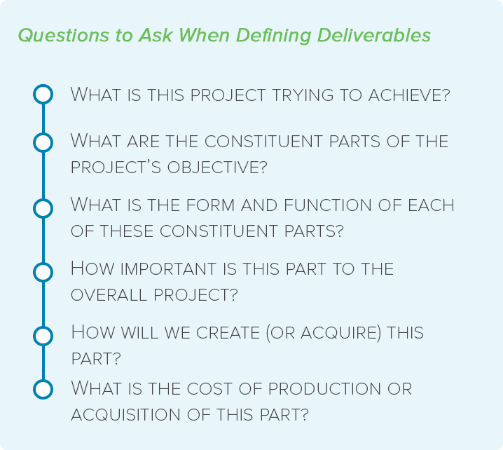 the complete project manager u2019s guide to project deliverables