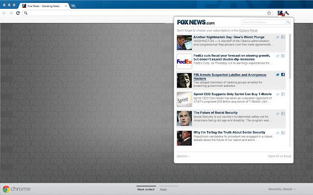 Fox News chrome extension