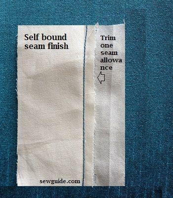 cómo coser una costura unida