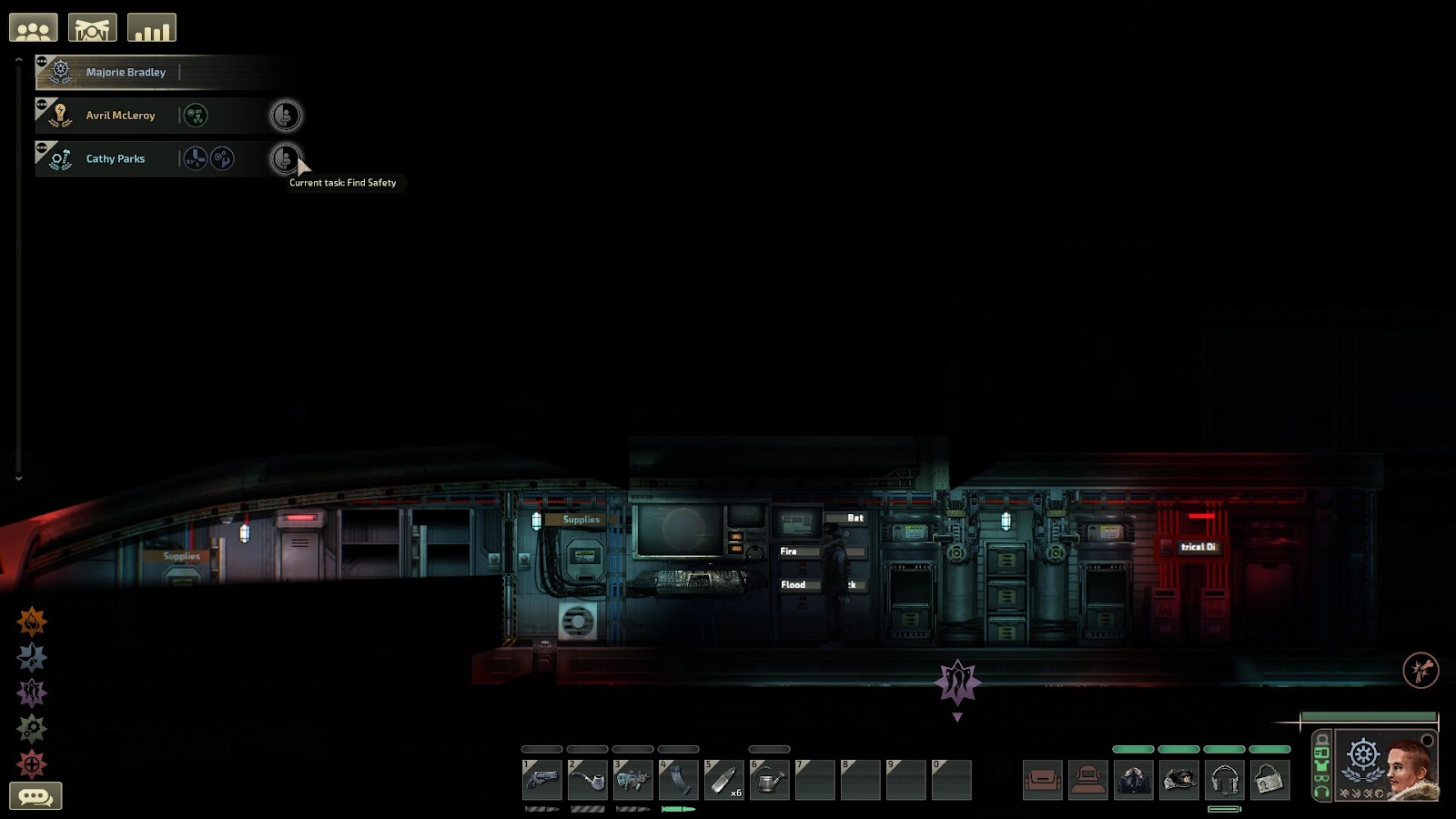 """Barotrauma crew orders with new """"current task"""" feature display"""