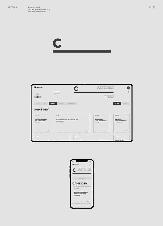 Zerøline — web on Behance