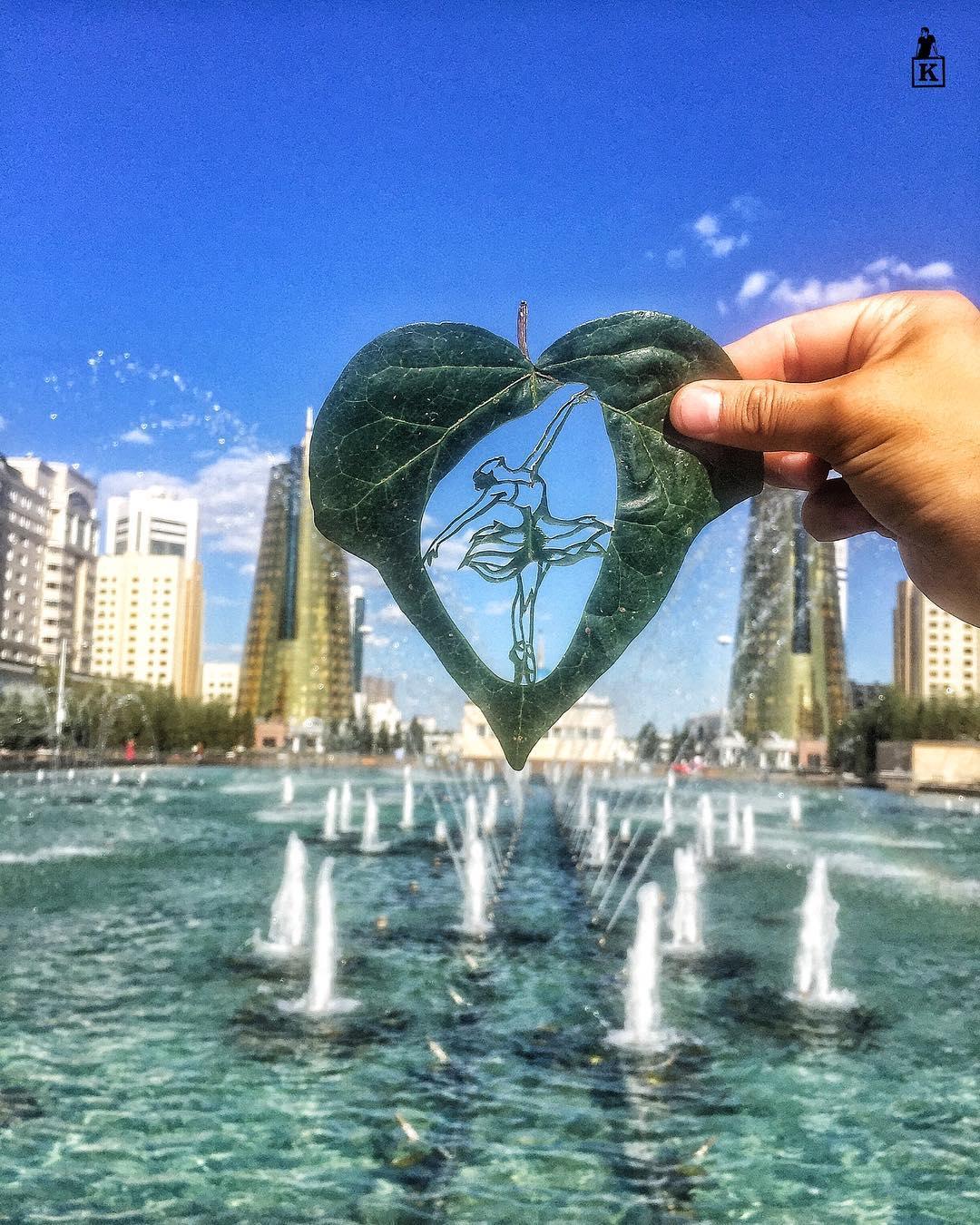 Lá rụng thường bị tống vào thùng rác, lá rụng ở Kazakhstan lại biến thành cả bầu trời nghệ thuật - Ảnh 3.