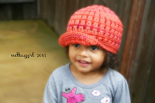 Free pattern: The Gabrielle newsboy hat