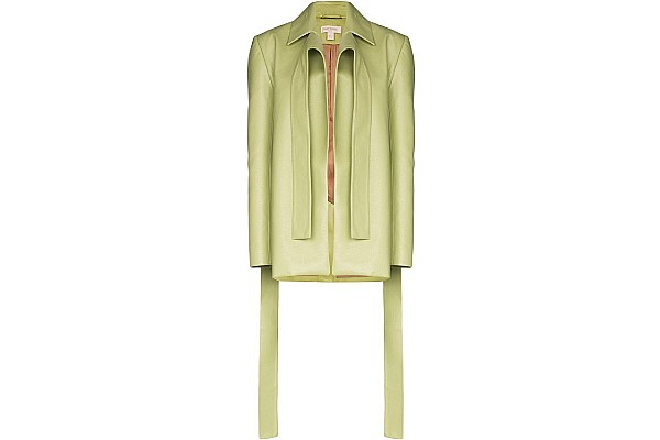 Matériel Draped Detail Blazer Jacket from Farfetch