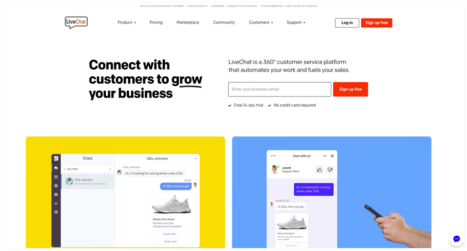 Live chat- connect with customer