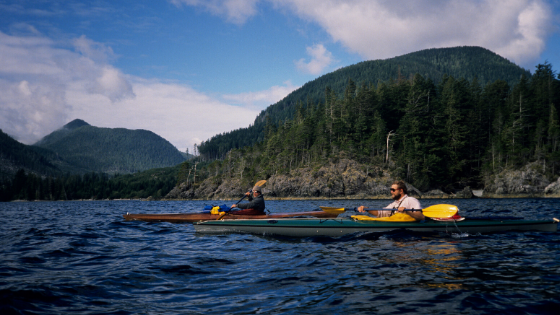 Vancouver Island residents Kayaking