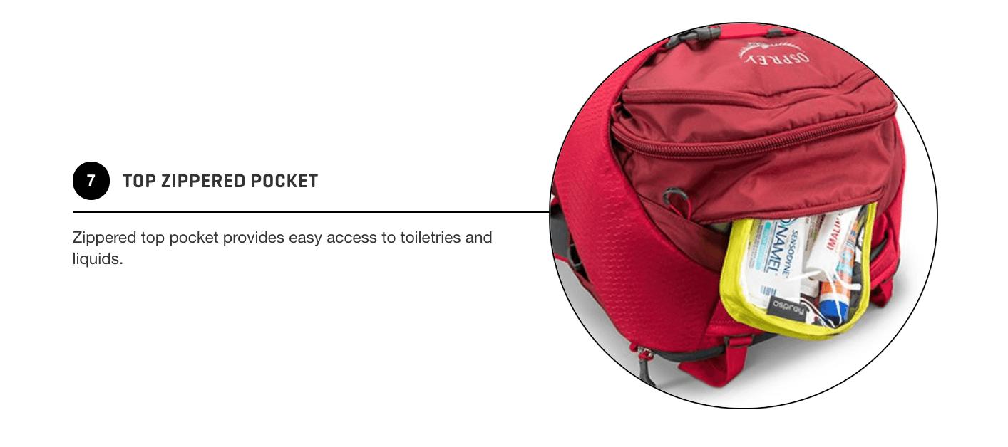 Osprey Porter 46 Quick Access Top Pocket