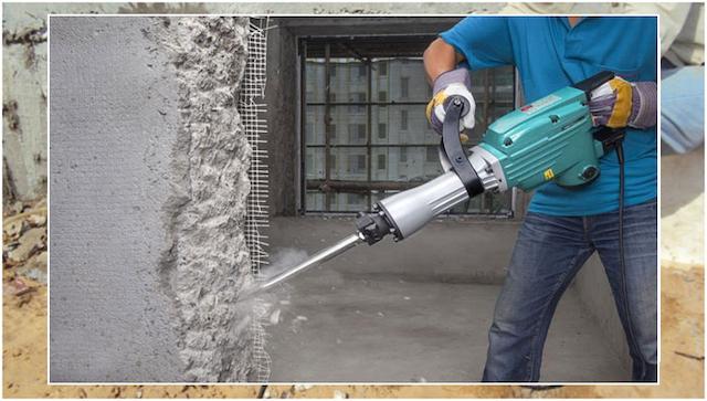 Khoan cắt bê tông áp dụng kỹ thuật sử dụng lưỡi khoan bằng kim cương