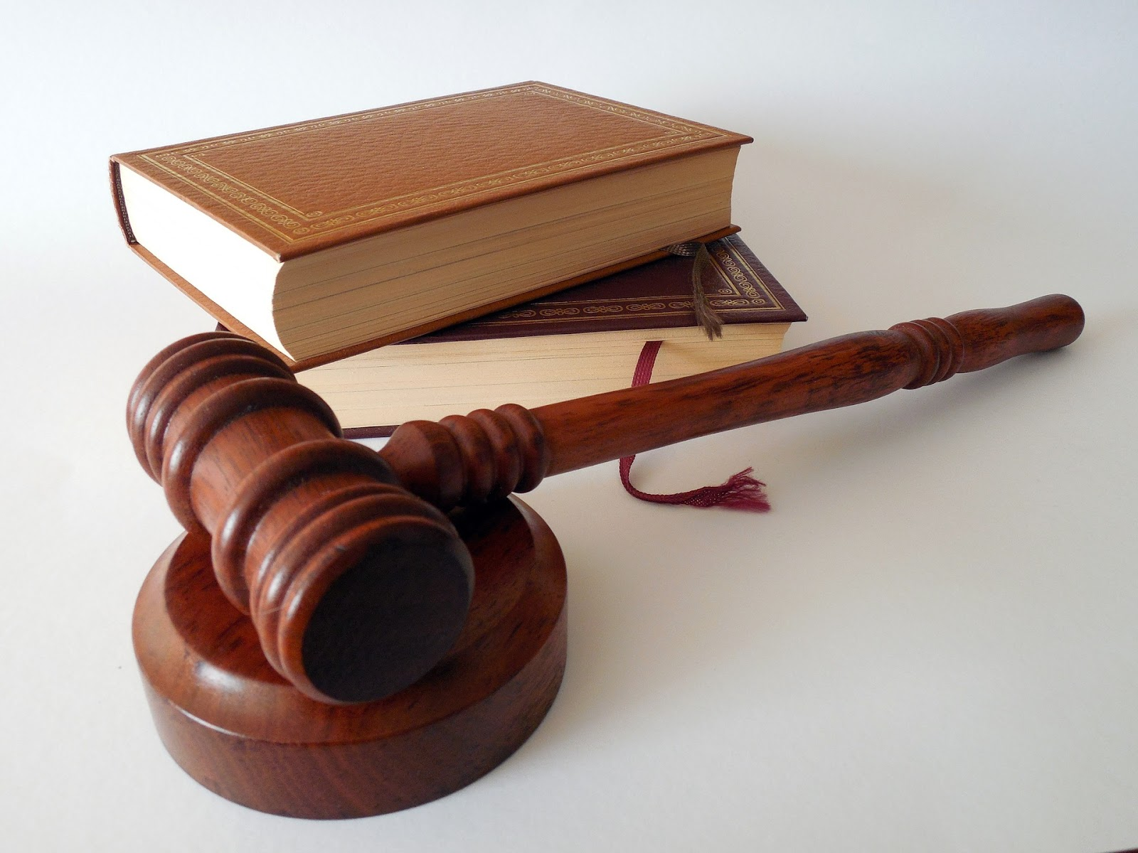 Academic integrity: Gavel and a book