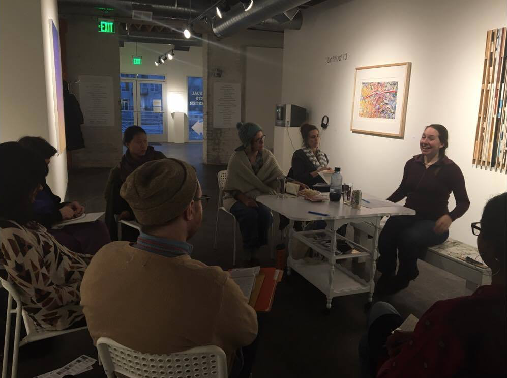 Photo from Katherine Glover's workshop this past March at Soo Visual Arts Center.