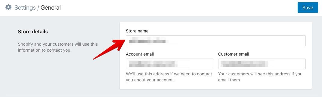 change Shopify store name